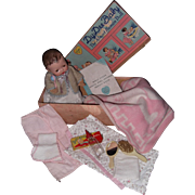"""Hold for S Effanbee Dy-Dee WEE 9"""" Baby Doll w/Box and Accessories"""
