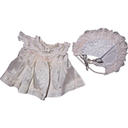 "Effanbee Authentic Dy-Dee Baby Silk Dress & Bonnet for 11"" Doll"