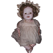 "20"" Effanbee Lovums Wind Up Heart beat Composition Baby Doll"