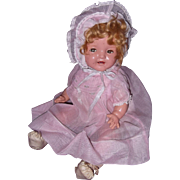 "Ideal Shirley Temple Baby 16"" Composition Doll"