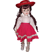 Beautiful Large Margaret O' Brien Composition Doll by Madame Alexander ~ Tagged Dress