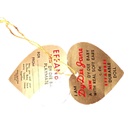 Effanbee Authentic Dy-Dee Jane Paper Heart Tag for your Dy Dee Baby Doll
