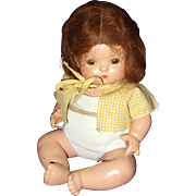 Cute Effanbee Wigged Patsy Baby Bent Knee Composition Doll