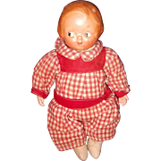 Early Campbells Soup Kid Composition Doll