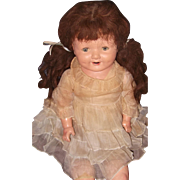 "Factory Original 29"" Large Composition Mama Doll"