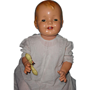 Life Size Effanbee Molded Hair Lovums Composition Baby Doll