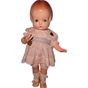 Beautiful Effanbee Sleep Eye Patsy Composition Doll