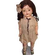"27"" Composition Mama Doll All Original Shabby Chic"