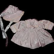 """Lilac Effanbee Dy-Dee Coat & Bonnet Set for 15"""" Doll"""