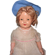 "Nice Large 26"" Shirley Temple Look A Like Composition Mama Doll"