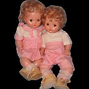 Precious Effanbee Twin Boy & Girl Composition Doll Set
