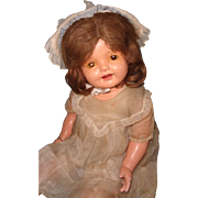 "Wonderful Large 28"" Effanbee Lovums Toddler Straight Leg Composition Mama Doll"
