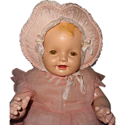 "Huge Loveable Effanbee Lovums 28"" Composition Baby Doll"