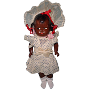 Early Effanbee Black Baby Grumpy Composition Doll