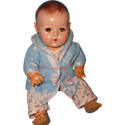 """Adorable Mold 2 Dy-Dee Baby 15"""" Doll in Jammies/Robe"""