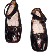 Early Old Doll Shoes for Large Bisque or Composition Dolly