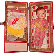Arranbee Nancy Composition Doll w/ Trunk and large Wardrobe