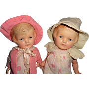 Arranbee (2) Nancy Composition Doll Sisters
