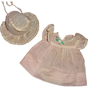 """Authentic Effanbee Dy-Dee Swiss Dot Dress Set for 11"""" Baby Doll"""