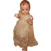 """Adorable 9"""" Effanbee Patsy Babyette with Original Clothing Accessories & Travel Case"""