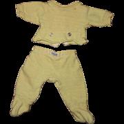 Effanbee Dy-Dee Baby Doll Nitey Nite Yellow Pajamas