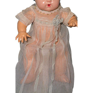 "Effanbee Authentic Early Dy-Dee Organza Baby Gown for 11"" Doll ~TLC"