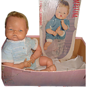 Ideal Large Thumbelina TLC Baby Doll w/ Box ~Works
