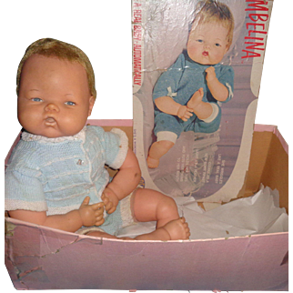 Ideal Large Thumblina TLC Baby Doll w/ Box ~Works