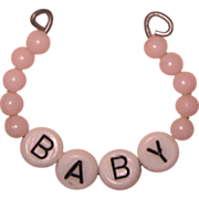 Vintage Pink Layette Bracelet for Dy-Dee or Dy Dee and Tiny Tears Doll