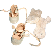 """Authentic Effanbee Patsyette 9"""" Composition Doll Shoes & Socks"""