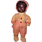 Early Black Composition Character Doll