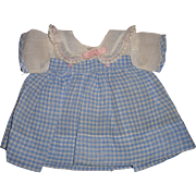 """Effanbee Authentic Dy-Dee Blue Gingham Dress for 15"""" Baby Doll"""