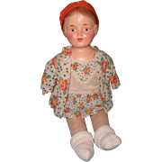 Early 1920s Composition Mama Doll