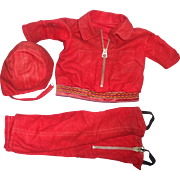 Effanbee Patsy Ann or Ideal Shirley Temple Aviator Snow Suit for Composition Doll