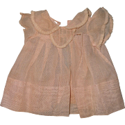 "Authentic Effanbee Dy-Dee Pink Swiss Dot Dress for 15"" Baby Doll  TLC"