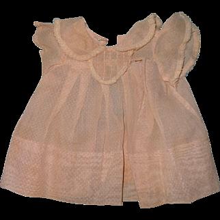 "Authentic Effanbee Dy-Dee Pink Swiss Dot Dress for 15"" Baby Doll  TLC"