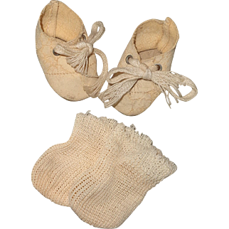 Nice Oil Cloth Shoes for Small Bisque or Composition Doll