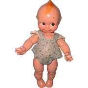 Adorable Composition Kewpie In Factory Sun Suit ~ Sweet!