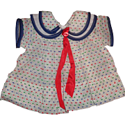 Sweet Dress for Shirley Temple or Patsy Ann Composition Doll