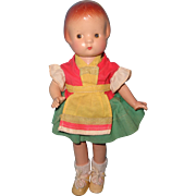 "Effanbee 9"" Patsyette Composition Doll in Factory Outfit"