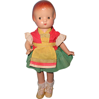 """Effanbee 9"""" Patsyette Composition Doll in Factory Outfit"""