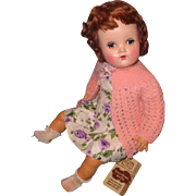 Beautiful 1950s Horsman Vinylette Baby Doll w/ Hang Tag