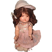 Small Dionne Type Composition Wigged Baby Doll