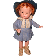 "Effanbee Anne Of Greene Gables 9"" Patsyette Composition Doll"