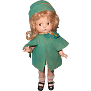 Effanbee Factory Original Patsy Jr. in RARE Felt Coat and Dress Set ~ Gift Giving Condition