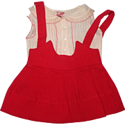 """Glad Toggs Tagged 2 pc Patsy Ann School Girl Outfit for 19"""" Composition Doll ~ Adorable"""