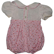 Authentic Effanbee Romper / Playsuit for Composition Doll
