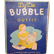 All Original  RARE Effanbee Dy-Dee BUBBLE OUTFIT Box Toy Set for Dy-Dee Baby