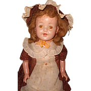 "Pretty 27"" Factory Original Mama Doll ~ Needs a Little TLC"