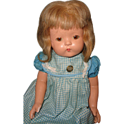 "Beautiful Effanbee 22"" Patsy Lou Soft Body Composition Mama Doll"
